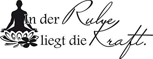 GRAZDesign Türtattoo Buddha Spruch - Badezimmer Tattoos Esoterik Wellness Bereich - Badezimmer Wandtattoos für Kosmetikstudio / 103x40cm / 650246_40_070