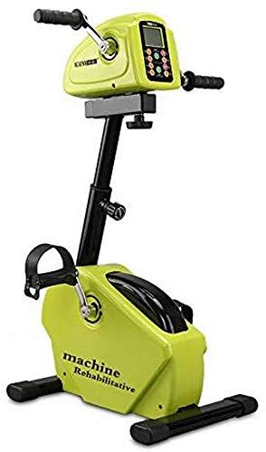 Ejercitador De Pedal Plegable Bicicleta De Ejercicio De Pie Pequeño para Fitness De Pierna De Brazo con Pantalla LCD Y Resistencia Ajustable En Interiores O Exteriores