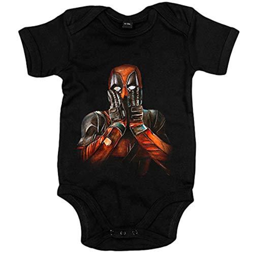 Body bebé Deadpool ilustrado por Henry Simon - Negro, 12-18 meses