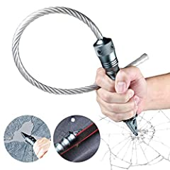 For car emergency use only. This is not a product that is designed be used as a blunt force striking weapon. BREAK AND ESCAPE: The glass breaker works easily and quickly to give you the best chance for escaping your vehicle. The Stinger will only bre...