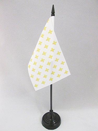 AZ FLAG Bandera de Mesa Flor DE lis Blanco Y Oro 15x10cm - BANDERINA de DESPACHO Real Francesa - Reino DE Francia 10 x 15 cm