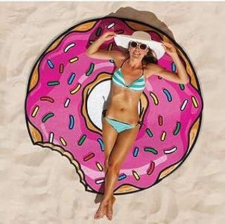 Ronshin Fashion Round Shape Chiffon Beach Towel for Outdoor Camping Mat