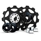 IMPALAPRO Bike Set 2 roldanas, Ruedas o poleas Jockey (11T) Cambio o desviador Trasero Aluminio CNC...