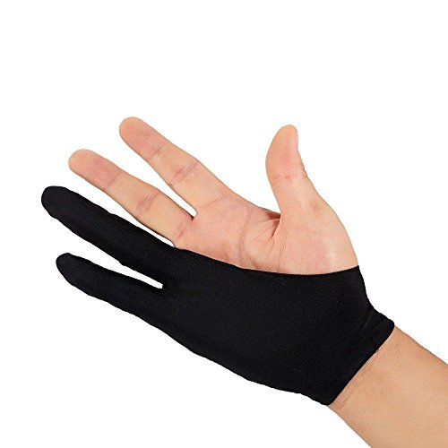 Wosonku Professional Free Size Artist Drawing Glove for Huion Graphic Tablet Drawing