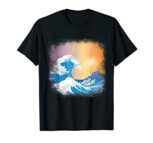 Great Wave Of Kanagawa - Vintage Japan Japanisches Welle T-Shirt