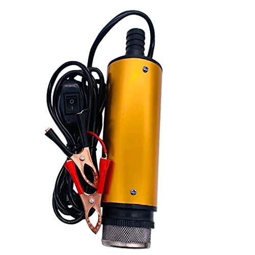 Harilla Bomba de Transferencia de Combustible, Mini Interruptor de Encendido/Apagado de aleación de Aluminio portátil Aceite Bomba de Agua de Transferencia - 12V 38mm