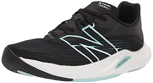New Balance Women's FuelCell Rebel V2 Speed Running Shoe, Black/White Mint/White Mint, 6