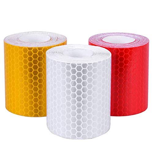 Anyasen Cinta Reflectante Adhesiva 3 Piezas adhesivos reflectantes para moto Pegatina Seguridad...