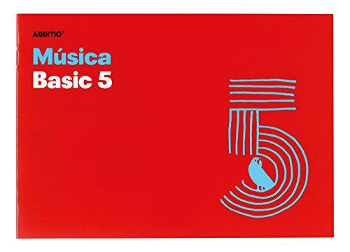 Additio Basic 5 – Cuaderno de música, color rojo