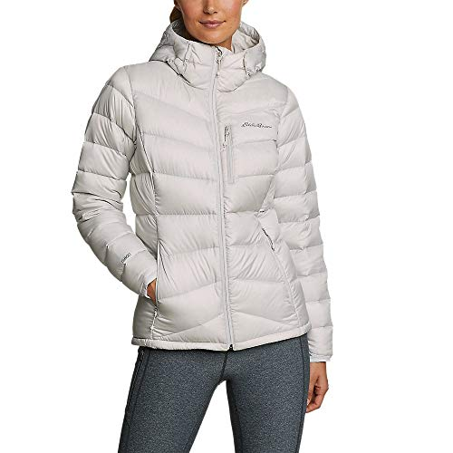 Eddie Bauer Women's Downlight 2.0 Hooded Jacket, Cement Plus 3X