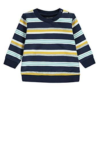 Marc O' Polo Kids Sweatshirt 1/1 Arm Felpa, Multicolore (Y/D Stripe|Multicolored 0001), 62 (Taglia Produttore: 56) Bimbo