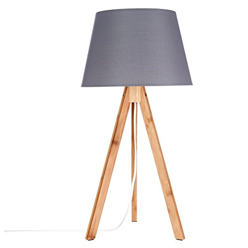 Lampe Bahi gris H55cm