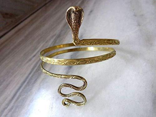 Brass Metal Snake Arm Cuff- Snake Armlet Bracelet Adjustable Upper Arm Cuff Boho Bohomian Arm Cuff
