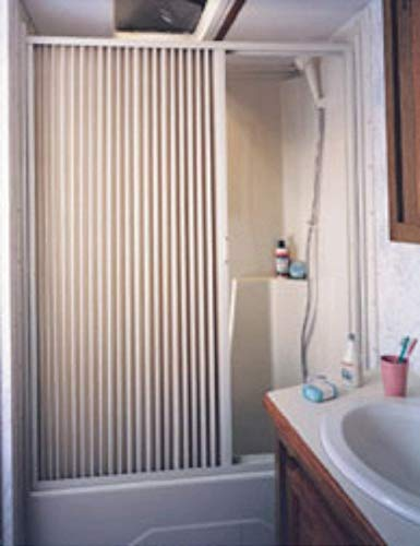 Irvine 6057SI Ivory Pleated Shower Door