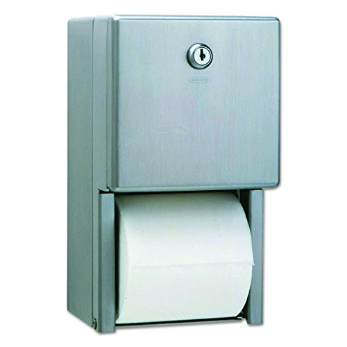 Bobrick B-2888 Classic Series Surface-Mounted Multi-Roll Toilet Tissue Dispenser, Satin