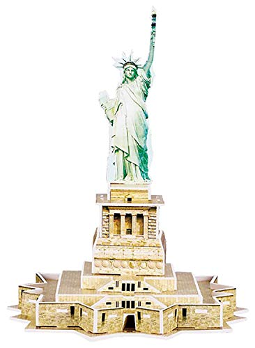 Quickdraw 3D Statue of Liberty Puzzle Famous USA Landmark Model 22 Pieces