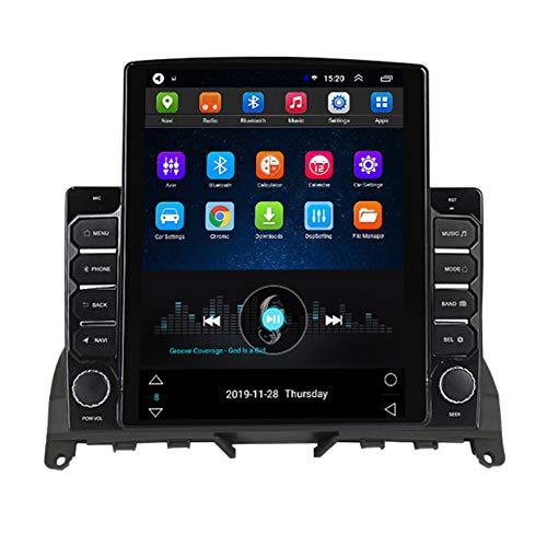 Android 2.5D Pantalla táctil Estéreo para automóvil Navegación por satélite Radio FM AM DVD Control del volante Reproductor de video Multimedia WIFI Bluetooth Navegación GP(Color:8 core 4G+WIFI 4+64G)