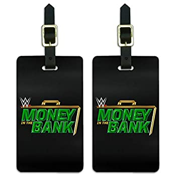 WWE Money in the Bank Luggage ID Tags Suitcase Carry-On Cards - Set of 2