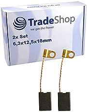 2 st. kolborstar 6,3 x 12,5 mm för många borr/spit elektriska verktyg (borrhammare, stamhammare) motorkol