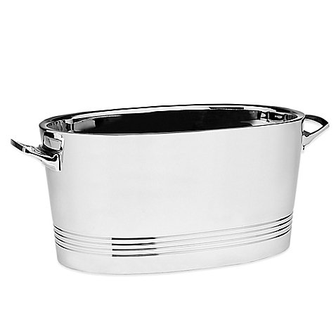 Strong, Durable Top Shelf Silver Stainless Steel Double-wall Cocktail Party Tub