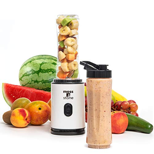 Moss & Stone Personal Blender Single Serve Shake & Smoothies Maker with Portable...