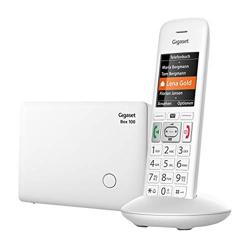 Gigaset E370 - Schnurloses Seniorenelefon - großes Farbdisplay - SOS-Notruffunktion mit 4 Rufnummern - Verstärker-Funktion für extra lautes Hören - Adressbuch für 200 Kontakte, weiß
