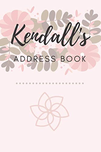 Address Book   Kendall: 6 x 9 Inches   208 Entries   104 Pages   Contact Book   Alphabetical with Letter on Each Page   Name   Address   Phone Numbers   Email   Notes