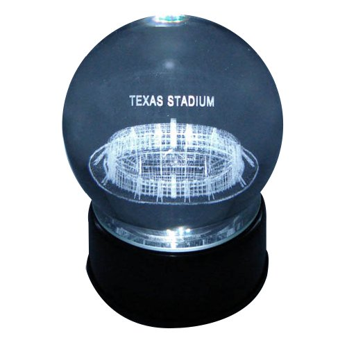 Dallas Cowboys Texas Stadium Laser-Etched Musical Lit Crystal Ball