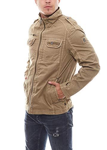 Redpoint Herren-Jacke Übergangsjacke lässiger Blouson Jacke Bomberjacke mit Stehkragen Camel, Größe:52