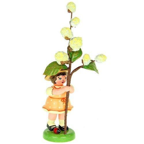 Hubrig-Volkskunst Blumenmädchen mit Maikätzchen * Höhe 11cm