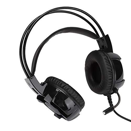 ASHATA Gaming-hoofdtelefoon, computeraccessoires, headset-stijl, oplichtende hoofdtelefoon met HD-microfoon, Music Esports Bass Gaming headset voor PS4-spel