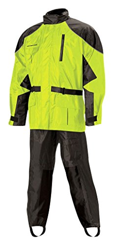 Nelson Rigg Unisex Adult AS-3000-HVY-02-MD Aston Motorcycle Rain Suit 2-Piece, (Hi-Visibility Yellow, Medium)