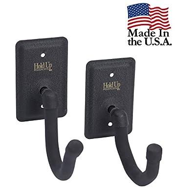 Hold Up Displays - Horizontal Gun Rack Storage and Shotgun Hooks Store Any Rifle Shotgun and Bow - Heavy Duty Steel - Made in USA