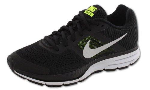 Nike Wmns Air Pegasus+ 30, Zapatillas de Running para Mujer, Negro (Black/Metallic Silver-Volt), 42 EU