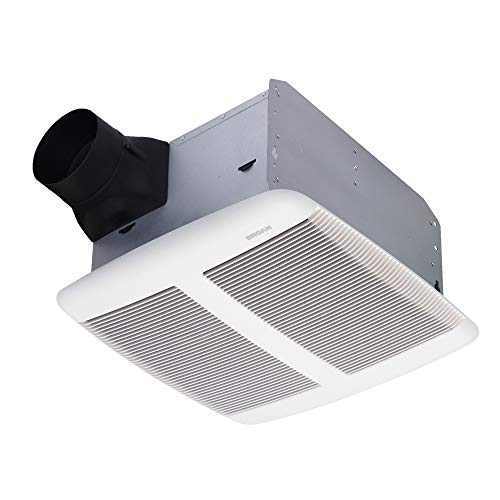 Broan Nutone SPK110 Sensonic Bathroom Exhaust Fan with Bluetooth Speaker, ENERGY STAR Certified, 1.0 Sones, 110 CFM, White, Standard