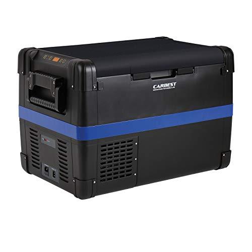 Carbest MaxiFreezer Kompressor Kühlbox in verschiedenen Größen 28, 40, 50, 60 Liter 12V/24V/100-240V Tiefkühlung tragbar (50L)