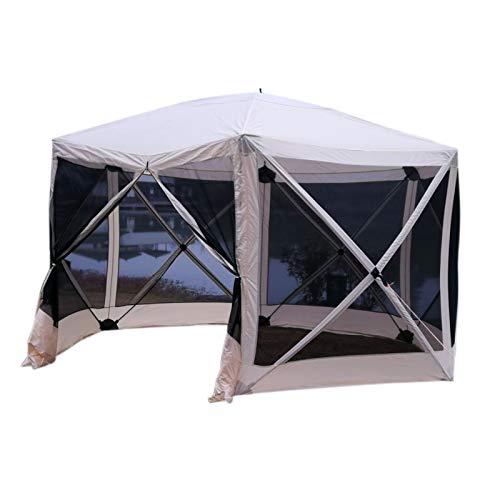 Outsunny paviljoen met opening voor 6-8 personen polyester 210D ademend waterdicht en UV-bestendig zijwanden van mesh 35 x 35 x 230 cm