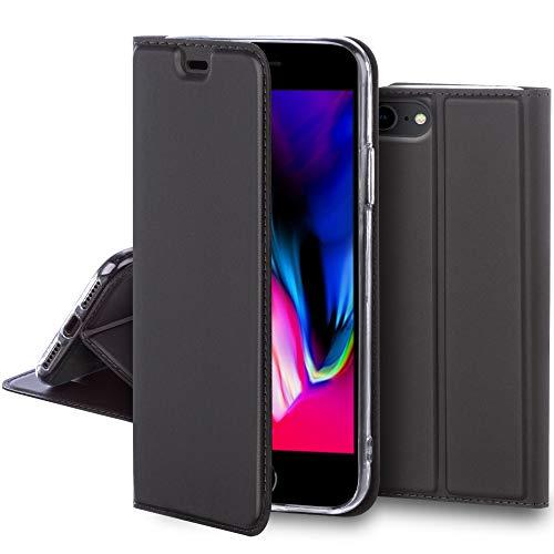 AJUSTADO Y ELEGANTE – Moozy Funda con tapa para iPhone 7 / iPhone 8 está hecha para encajar como un guante. No hará que tu teléfono parezca demasiado grande y aun así lo protegerá. Los detalles bien diseñados ofrecen calidad y elegancia. PROTECCIÓN -...