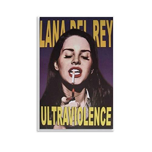 yuhui Lana Del Rey Toile Poster et décoration murale moderne pour chambre à coucher 20 x 30 cm