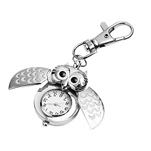 Llavero Unisex Reloj De Bolsillo De Cuarzo Analógico Llavero del Reloj del...