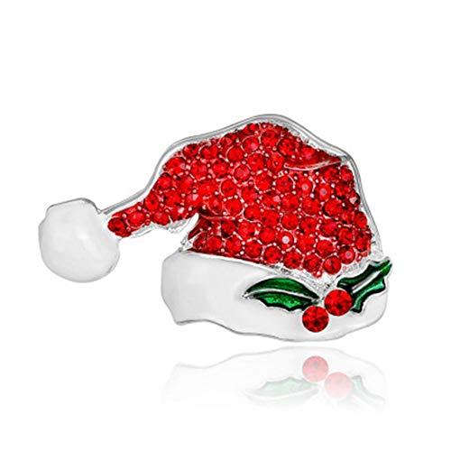 Exquisite Weihnachten Design Brosche Strass Weihnachtsmann Weihnachtsbaum Glocke Schneemann Kranz Broschen Schmuck Geschenk von Loveless Land