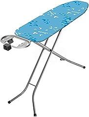 Vileda Smart Plus planche à repasser raccord électrique intégré, surface perméable à la vapeur, bleu