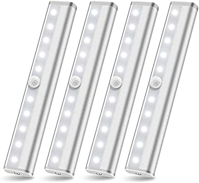 SZOKLED LED Kitchen Lights Bar, Wireless LED Under Cabinet Lighting, Dimmable Closet Light Stair Night Lights