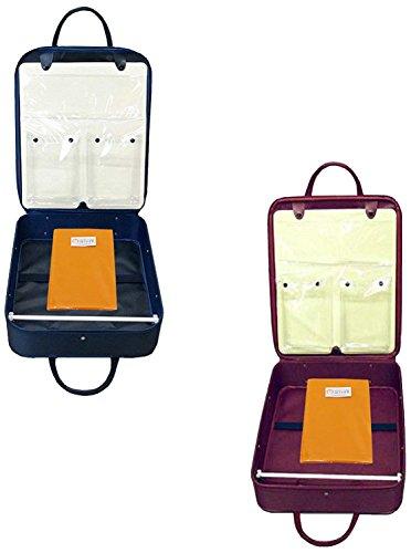 着物バッグ 和装 ケース 【日本製】 【防水加工】 着付け道具入れ 収納 wk-043 (エンジ色) (紺色) お稽古や旅行に便利 着物、小物類が一式入ります