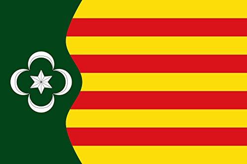 ... perché la prima impressione conta Bandiera: Pardines   Pardinas, Gerona, España   Pardines, Girona, Espanya per scopi rappresentativi bandiera paesaggio   1.35m²   90x150cm Qualità Premium