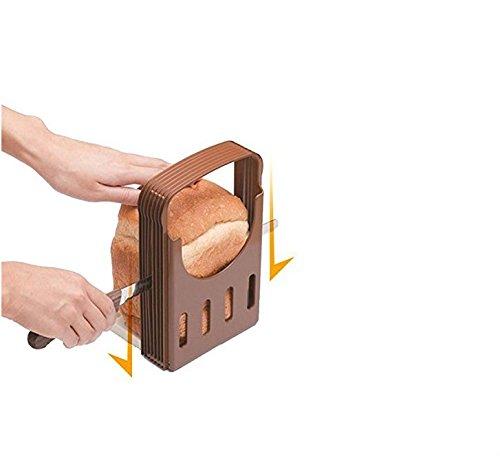 Jakerbing Faltbar Brot Schneide Küche zum Guide Toast Slicer Backen Werkzeuge
