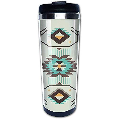 JULOE Southwestern Ethnic Native America Kaffeetassen Edelstahl Wasserflasche Tasse Reisebecher Kaffeebecher