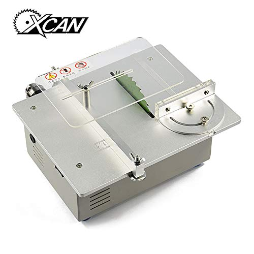 Purchase Xucus XCAN Mini Table Saw Handmade Woodworking Grinding/Polishing/Cutting Bench Saw DIY Mod...