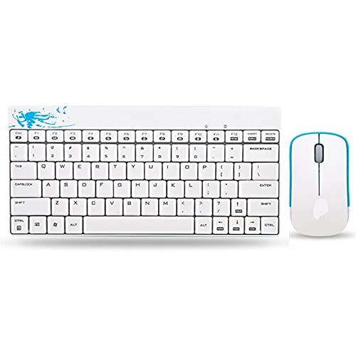 YEZIN Capas de Llave para el Teclado X210 Teclado inalámbrico y Conjunto de Ratones Mini Notebook Multimedia Office (Color : White)
