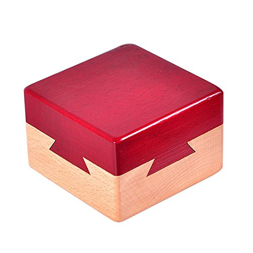 Zernnis Wood Magic Puzzle Brain Teaser Lock Box für Intelligence Games